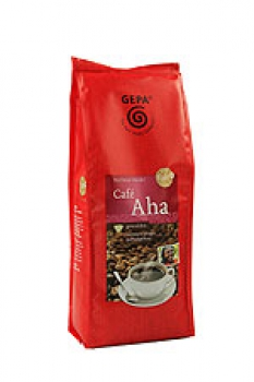 Café Aha, Fair Trade Kaffee, gemahlen
